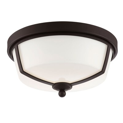 Kate 2-Light Flush Mount Finish: Bronze