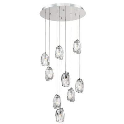 Diffi 9-Light Cascade Pendant