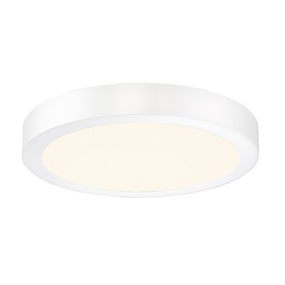 Brant 1-Light Flush Mount Finish: White