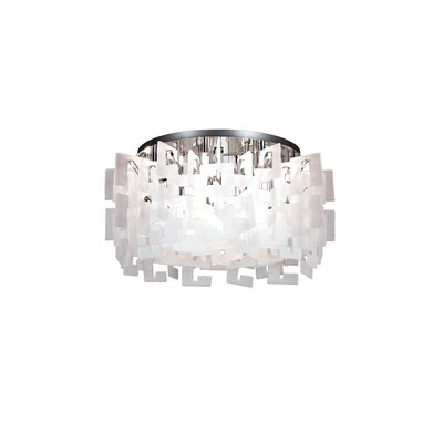 Numero 14-Light Semi Flush Mount