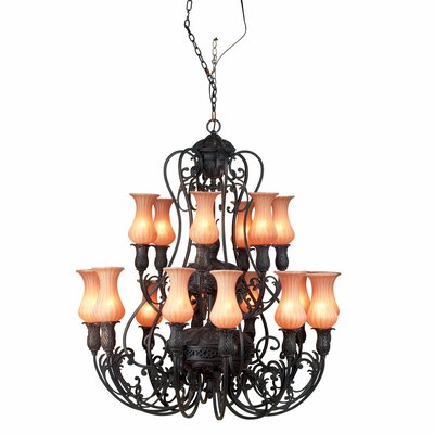 Richtree 18-Light Candle-Style Chandelier