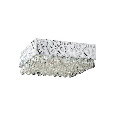 Martellato 8-Light Flush Mount Shade Color: Clear