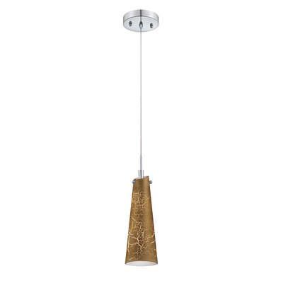 Tenor 1 Light Pendant Shade Color: Gold