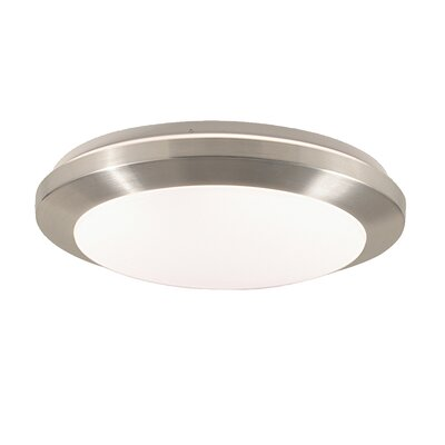 Lucid 1-Light Flush Mount Size: 3.13 H x 10.63 W x 10.63 D