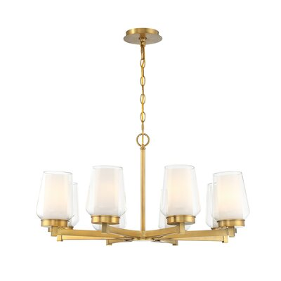Jaeden Customizable 8-Light Candle-Style Chandelier