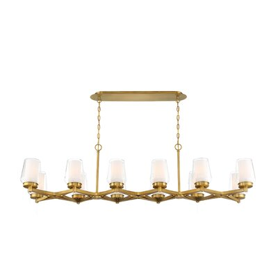 Jaeden Customizable 12-Light Candle-Style Chandelier Finish: Brass
