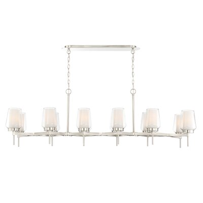 Jaeden Customizable 12-Light Candle-Style Chandelier Finish: Nickel