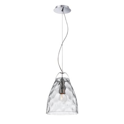 Amero 1-Light Mini Pendant Size: Large, Shade Color: Clear
