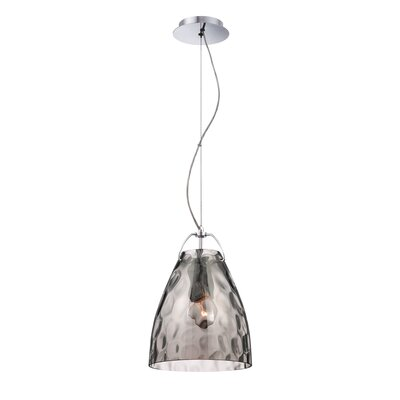 Amero 1-Light Mini Pendant Size: Large, Shade Color: Smoke