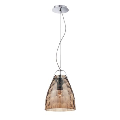 Amero 1-Light Mini Pendant Size: Small, Shade Color: Amber