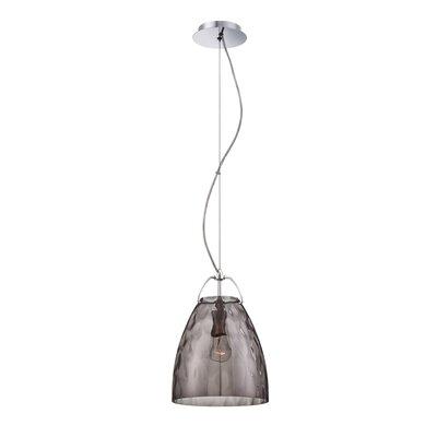 Amero 1 Light Pendant Size: Large, Shade Color: Smoke