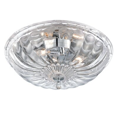 Vintage Flush Mount Size: Medium