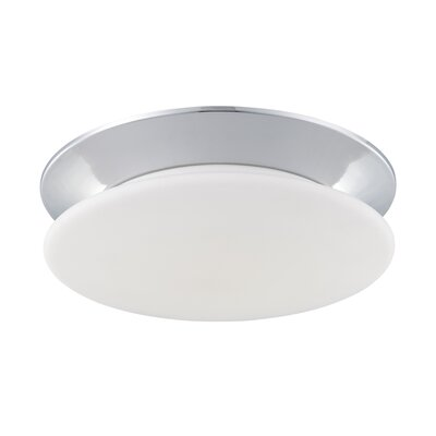 Crown 1-Light Flush Mount Fixture Finish: Chrome