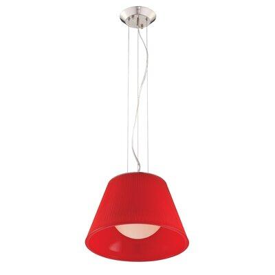 Ribo 1-Light Pendant Shade Color: Red