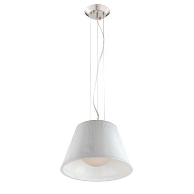 Ribo 1-Light Pendant Shade Color: White