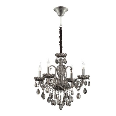 Providence 4-Light Crystal Chandelier Finish: Smoke