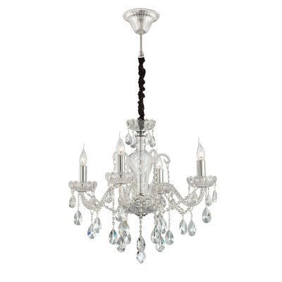 Providence 4-Light Crystal Chandelier Finish: Clear