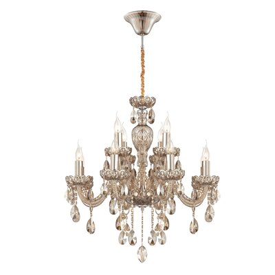 Providence 12-Light Crystal Chandelier Finish: Cognac Brandy