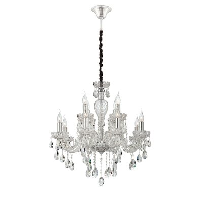 Providence 12-Light Crystal Chandelier Finish: Clear