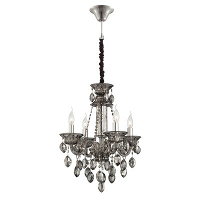 Venetian 4-Light Crystal Chandelier Finish: Smoke