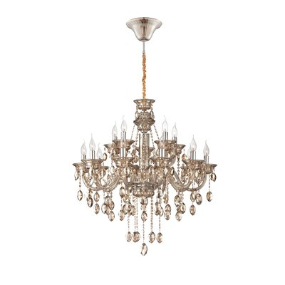 Venetian 15-Light Crystal Chandelier Finish: Cognac Brandy
