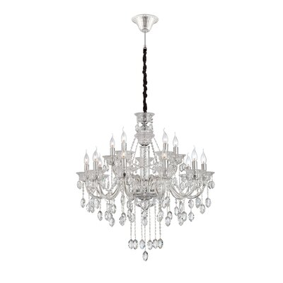 Venetian 15-Light Crystal Chandelier Finish: Clear