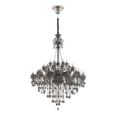 Venetian 54-Light Crystal Chandelier Finish: Smoke