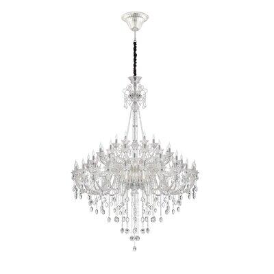 Venetian 54-Light Crystal Chandelier Finish: Clear