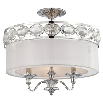 Bijoux 3-Light Semi Flush Mount