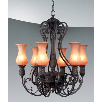 Richtree 6-Light Candle-Style Chandelier