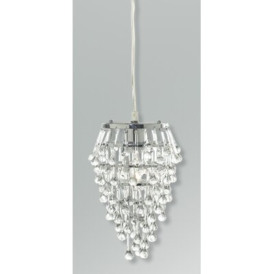 Vidal 1-Light Geometric Pendant Shade Color: Clear Crystal