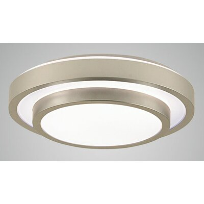 Noire 1-Light Flush Mount Size: 3.5 H x 13.25 W x 13.25 D
