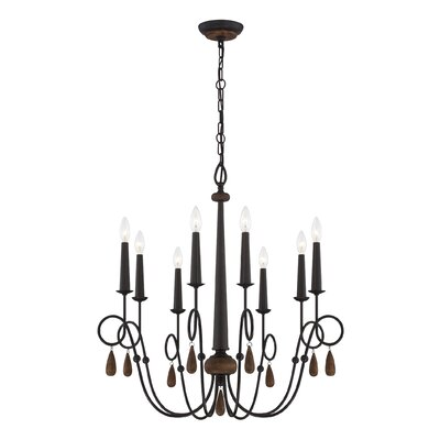 Corso 8-Light Candle-Style Chandelier