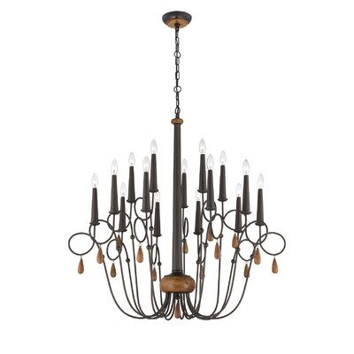 Corso 15-Light Candle-Style Chandelier