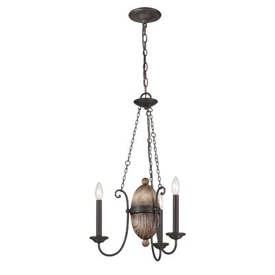Albero 3-Light Candle-Style Chandelier