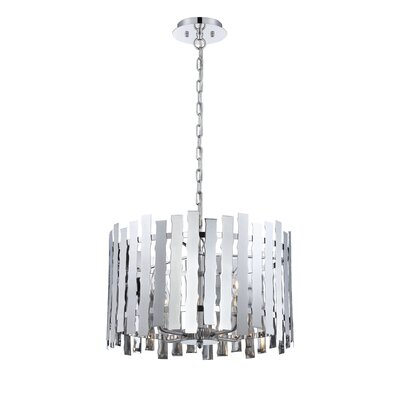 Nastro 4-Light Drum Pendant Finish: Chrome