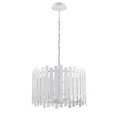 Nastro 4-Light Drum Pendant Finish: White