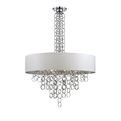 Novello 12-Light Pendant Finish: Chrome/White