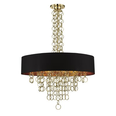 Novello 12-Light Pendant Finish: Gold/Black
