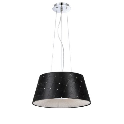 Sasso 2-Light Drum Pendant Shade Color: Black