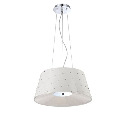 Sasso 2-Light Drum Pendant Shade Color: White