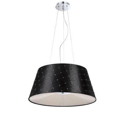 Sasso 3-Light Drum Pendant Shade Color: Black