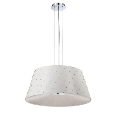 Sasso 3-Light Drum Pendant Shade Color: White