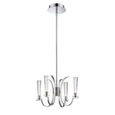 Cromo 4-Light Candle-Style Chandelier