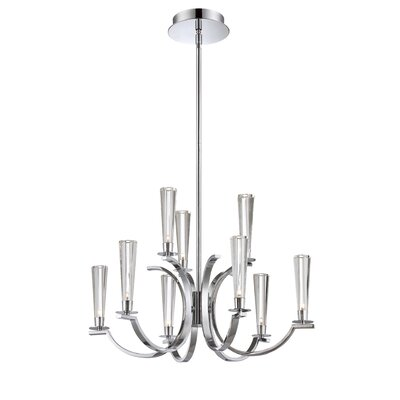 Cromo 9-Light Candle-Style Chandelier