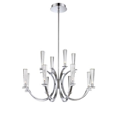 Cromo 12-Light Candle-Style Chandelier