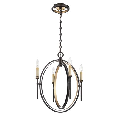 Infinity 4-Light Candle-Style Chandelier