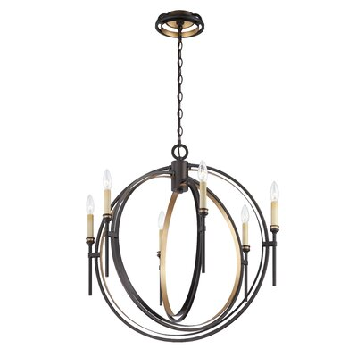 Infinity 6-Light Candle-Style Chandelier