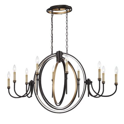 Infinity 10-Light Candle-Style Chandelier