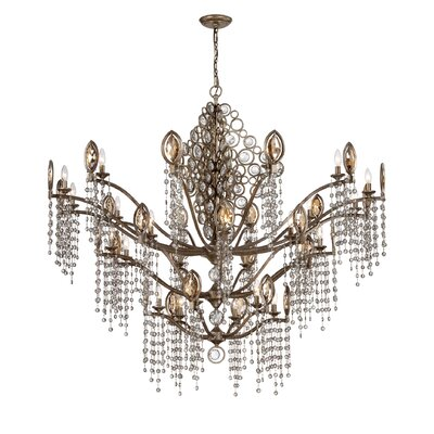 Capri 27-Light Crystal Chandelier